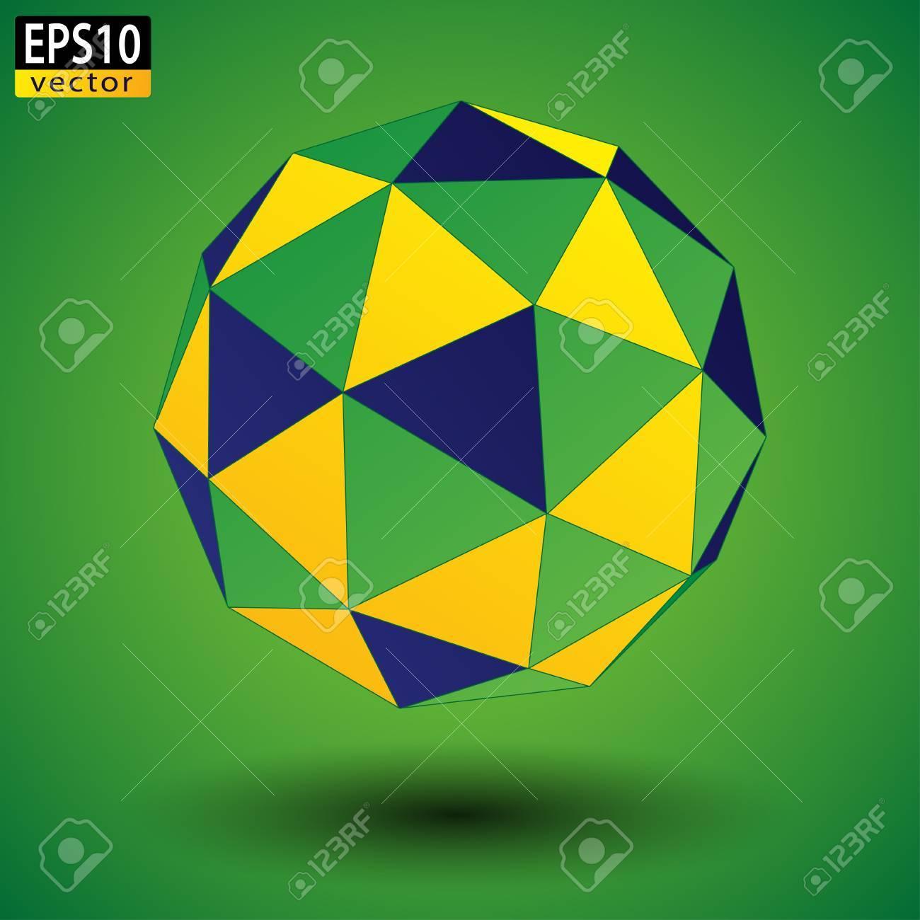 Abstract Brazilian Soccer Ball EPS10 Vector - 51785685