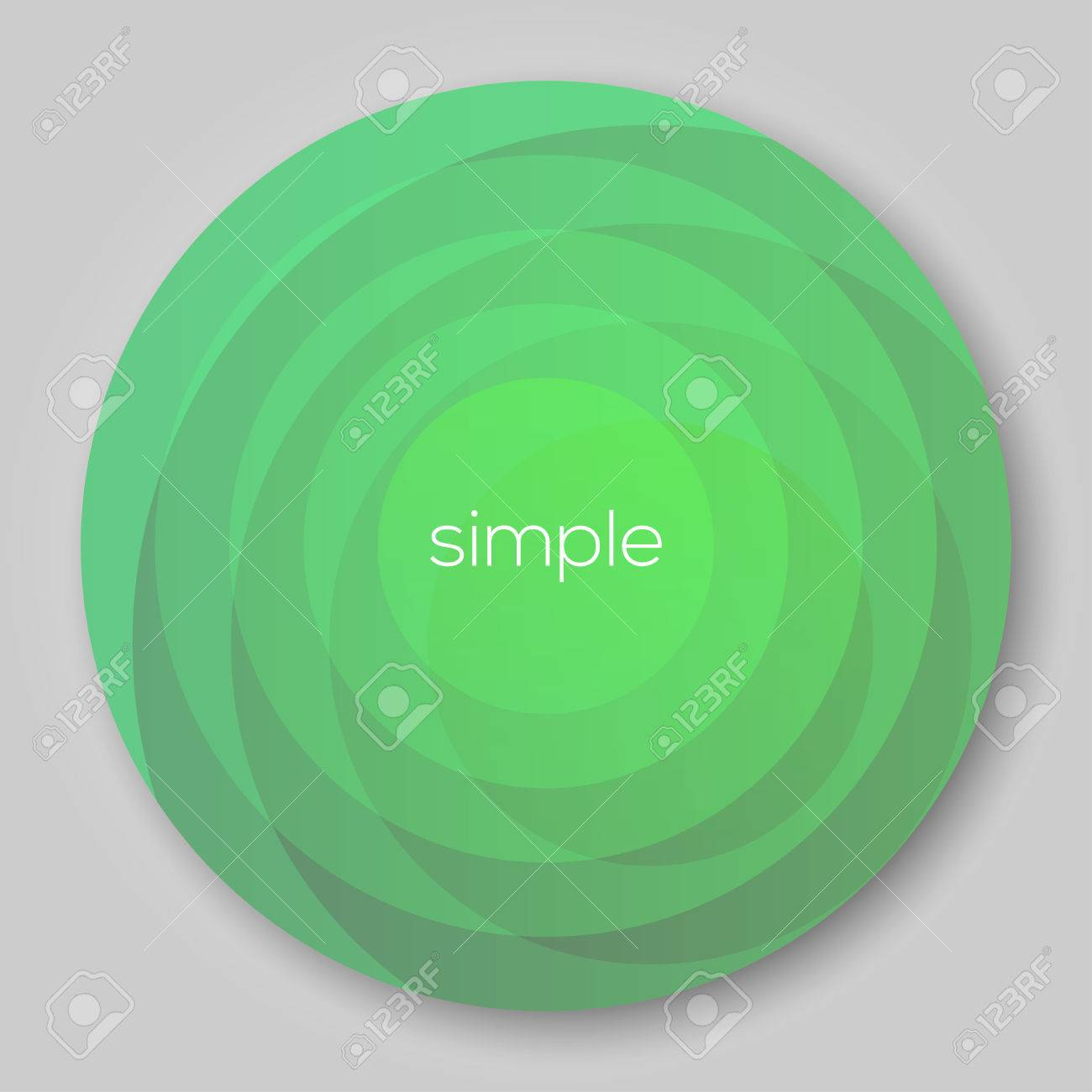 Circle Background for Design Green EPS10 Vector - 51785781