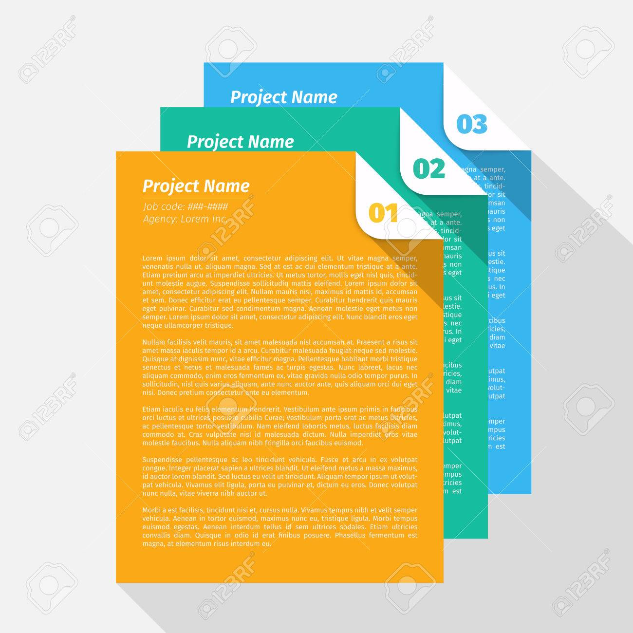 Modern design Layout, Project Management Brief EPS10 Vector - 51749639