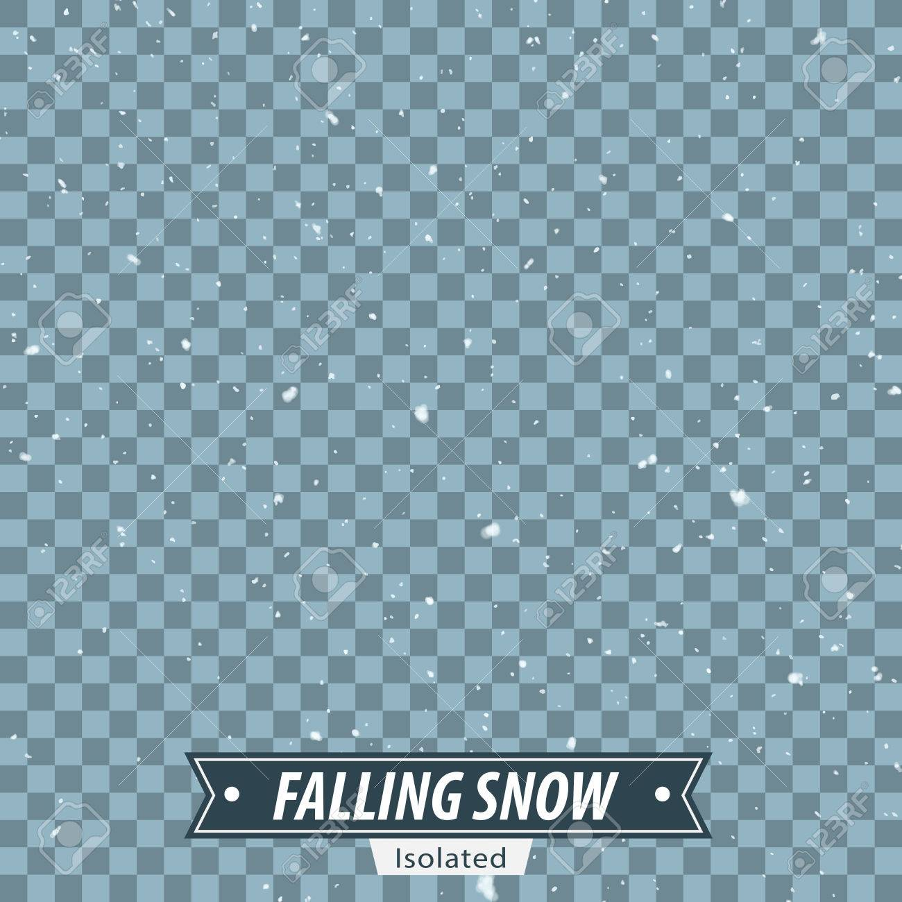 Isolated Falling Snow EPS10 Vector - 51749645
