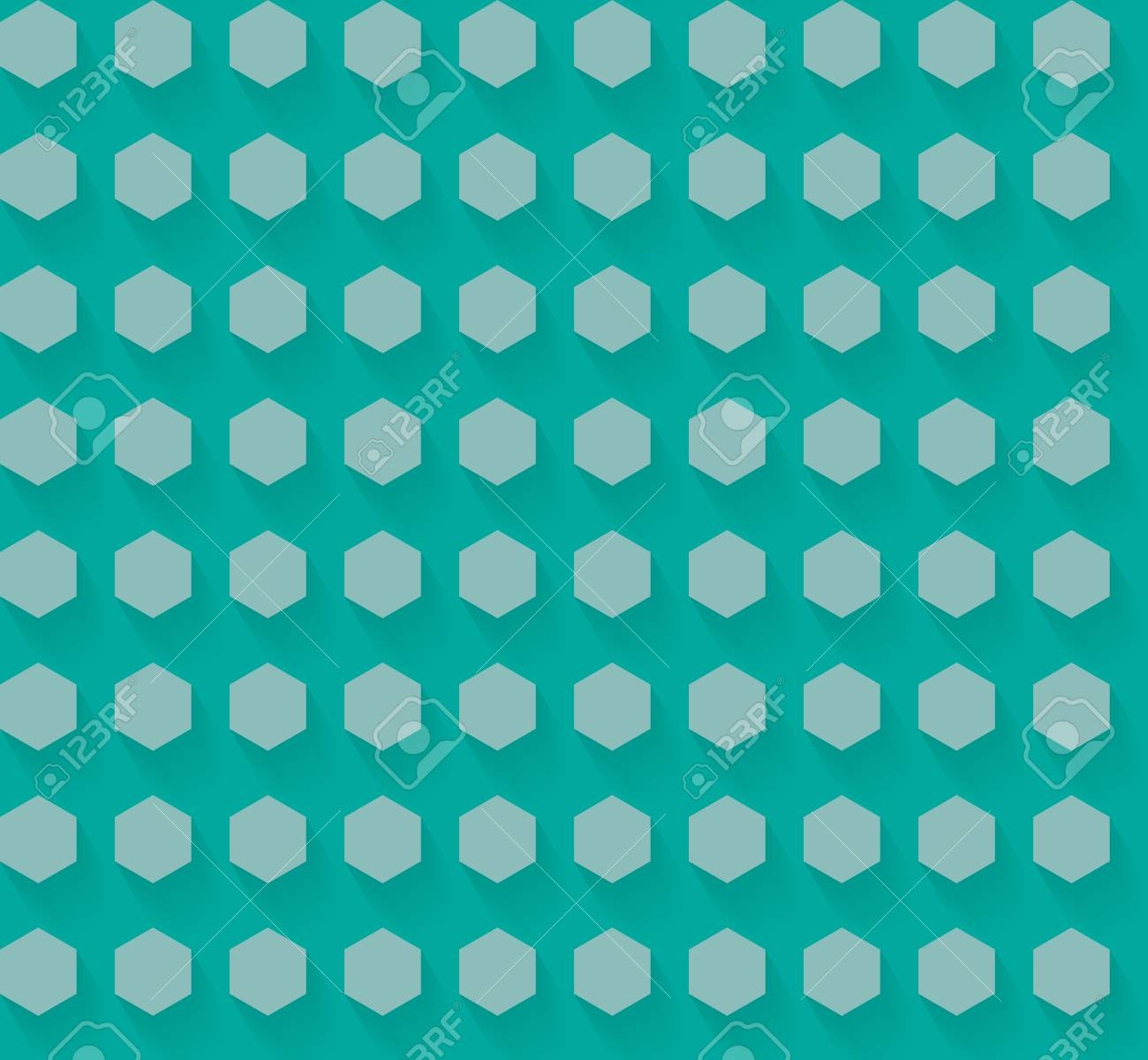Flat Hexagon Pattern with shadow EPS10 Vector - 51755940