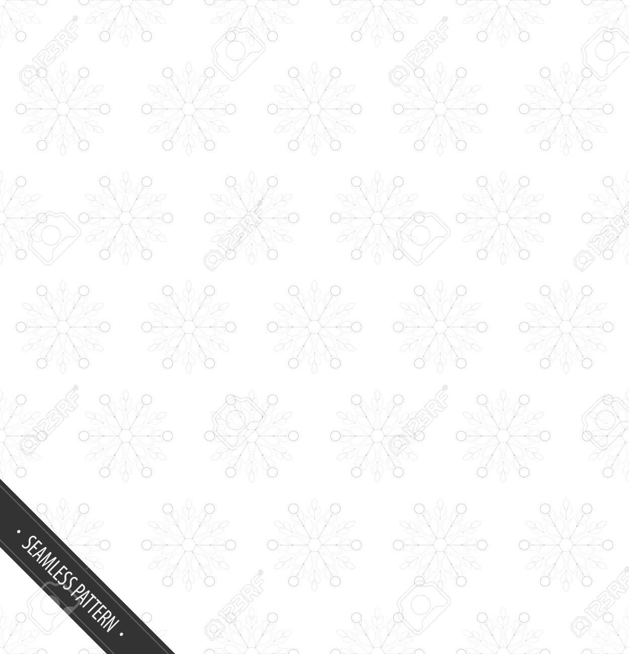 Seamless White Pattern with Snowflakes EPS10 Vector - 51755970
