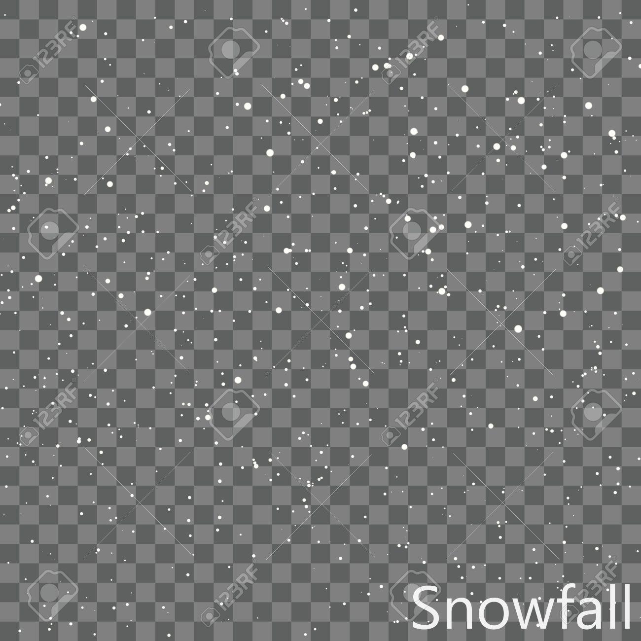 Isolated Snowfall Overlay EPS10 Vector - 51756179