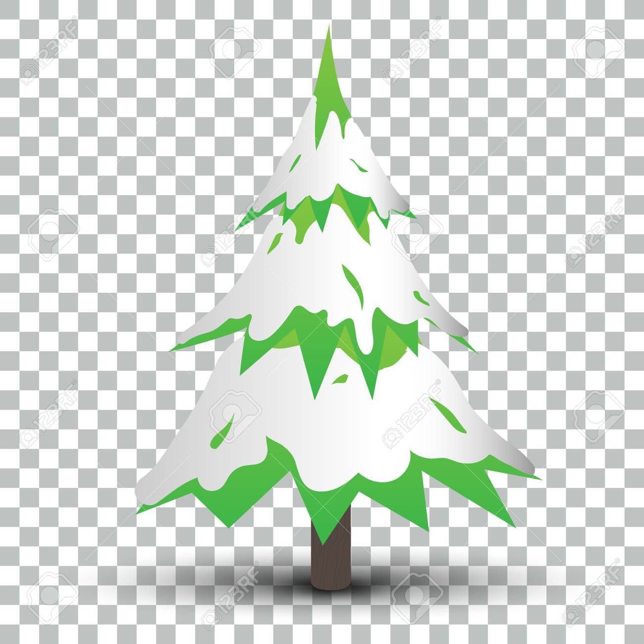 Isolated Christmas Tree with Shadow EPS10 Vector - 51756181