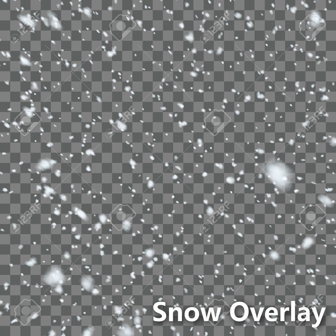 Isolated Falling Snow Overlay EPS10 Vector - 51756182