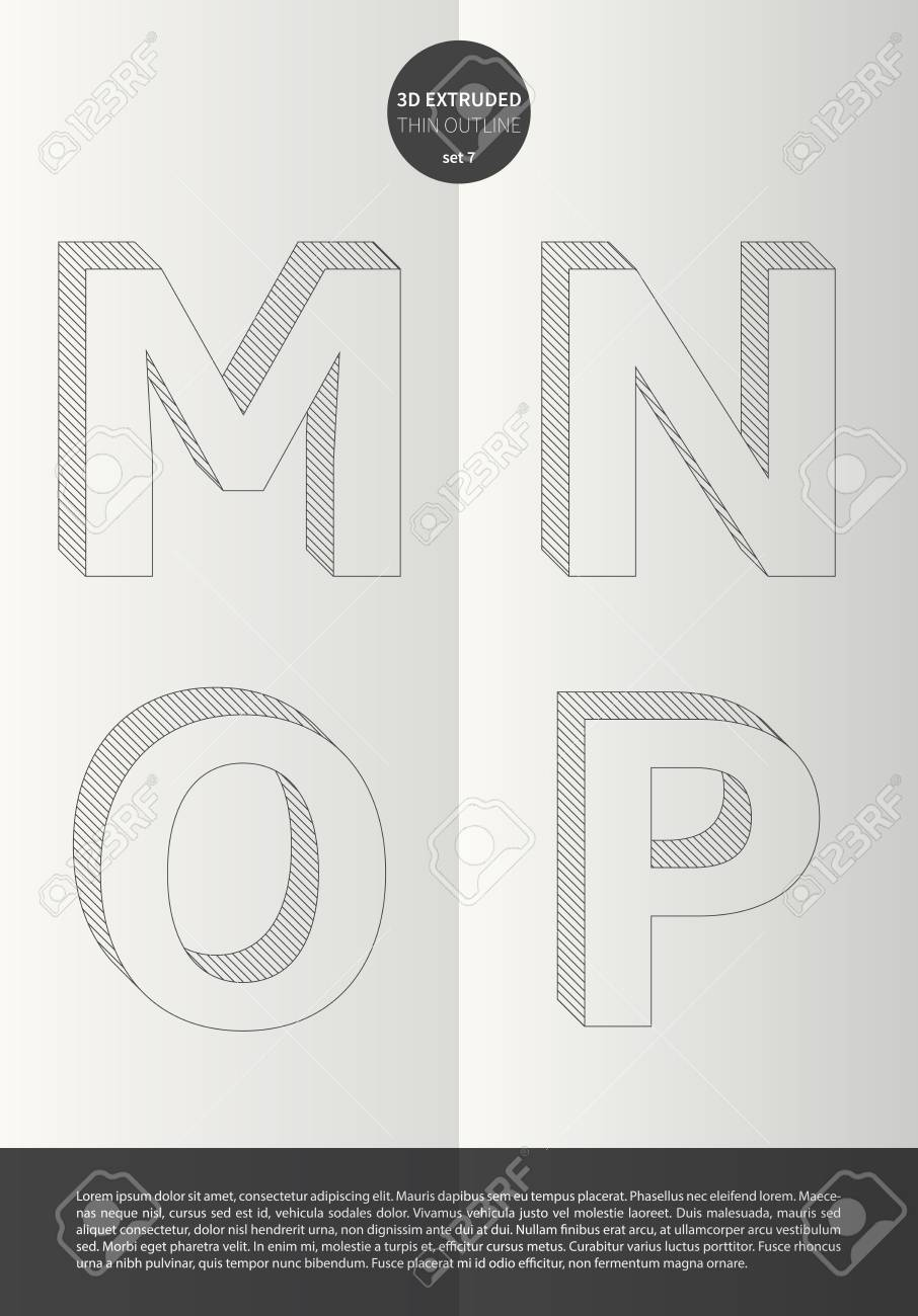 Typographic alphabet in a set with vibrant colors and minimal design EPS10 Vector Set 7 M N O P letters - 51756183