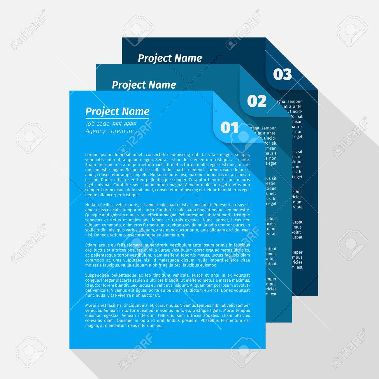 Modern design Layout, Project Management Brief EPS10 Vector - 51756191