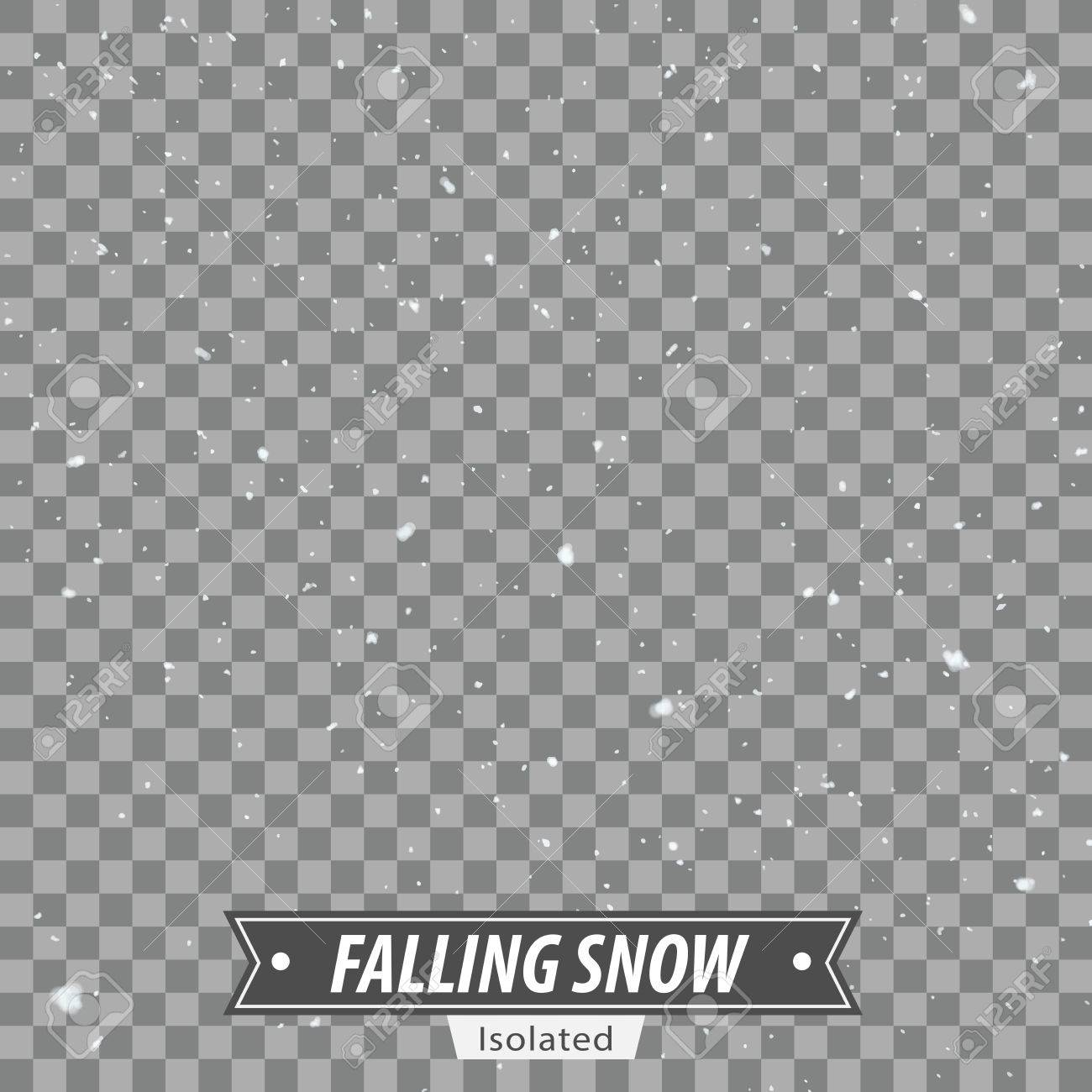 Isolated Falling Snow EPS10 Vector - 51756190