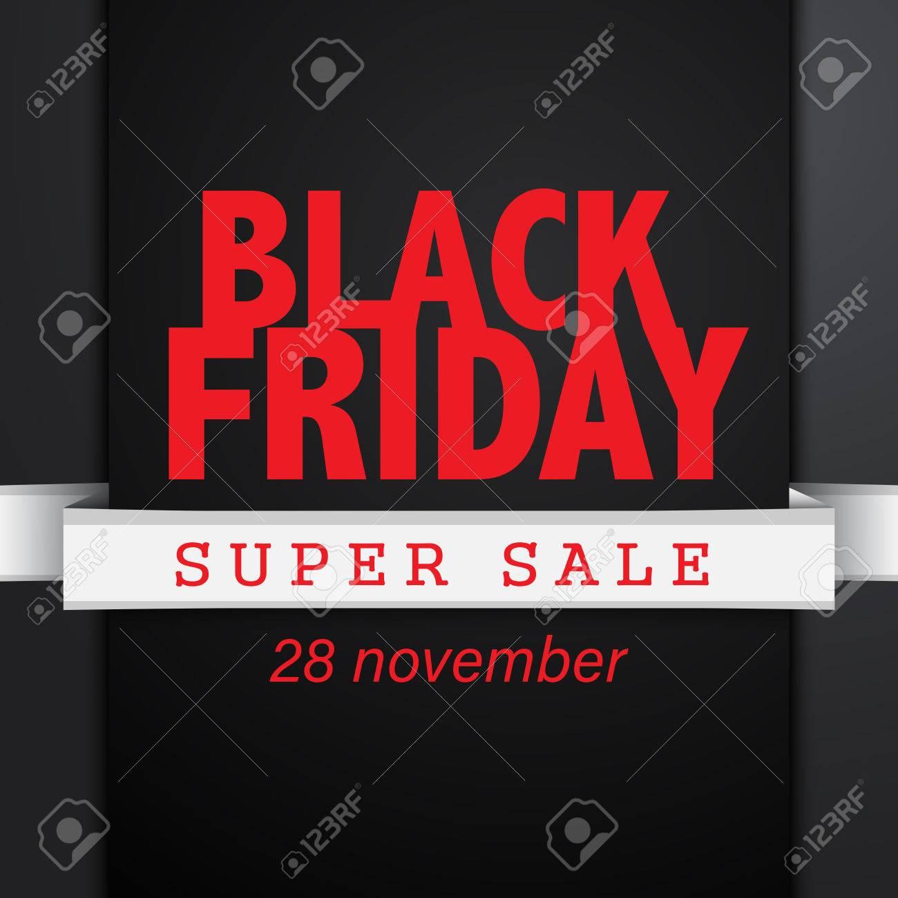 Black friday sale banner EPS10 Vector - 51756193