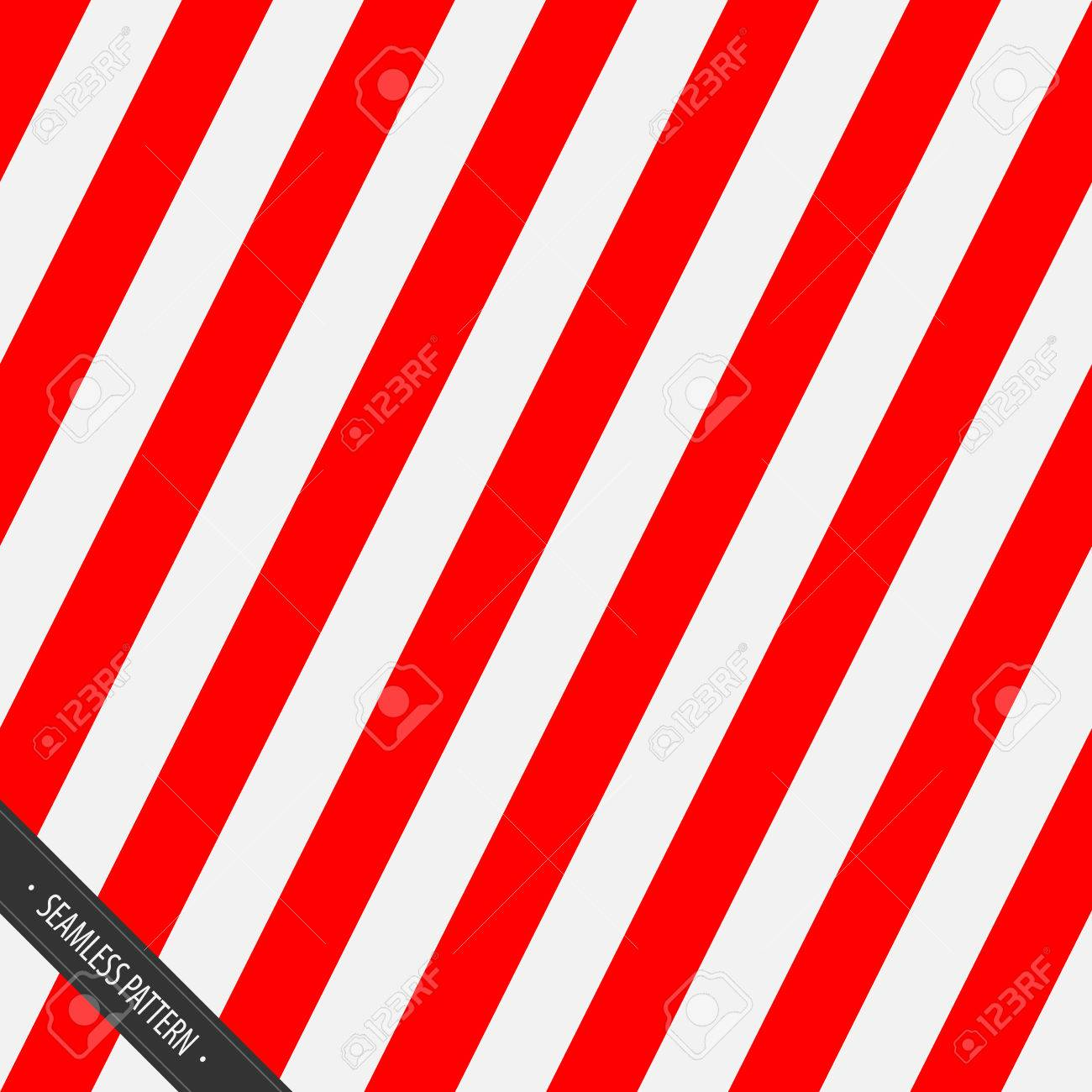 Seamless Wrapping Paper Pattern. Red and White Slanting Lines EPS10 Vector - 51756307