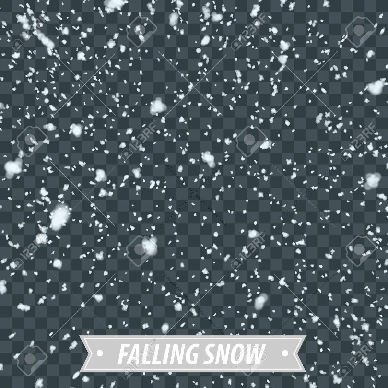 Isolated Heavy Snow Falling EPS10 Vector - 50955806