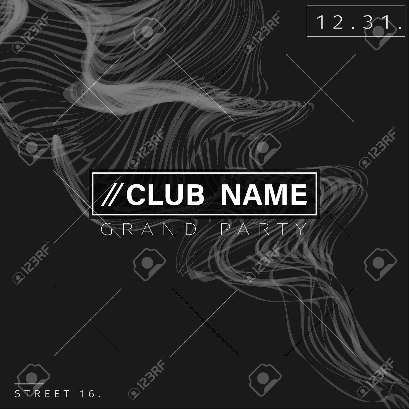 Club Party Poster Background Template Vector EPS10 - 50956037