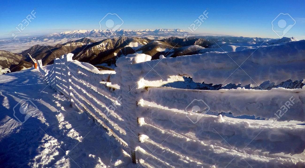 beautiful landscape in jasna ski resort, slovakia stock photo