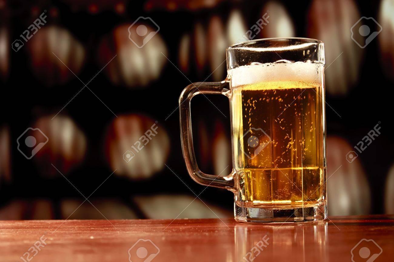 beer mug on vintage background Stock Photo - 11589119