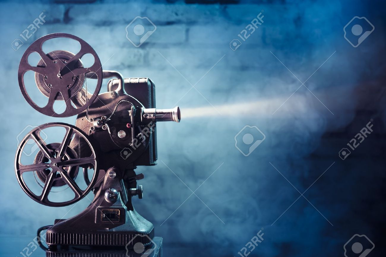 Picture of old fashioned movie projector 62