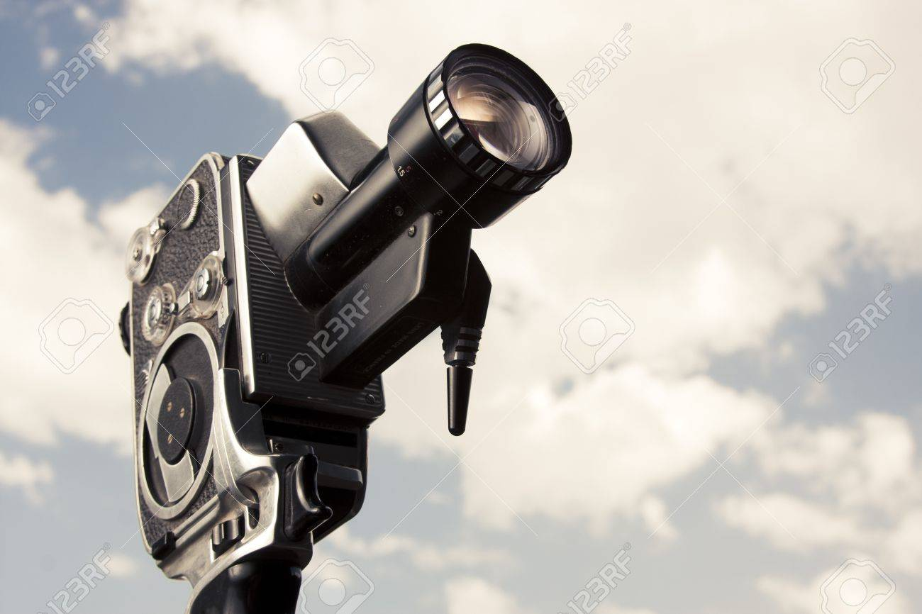 photo of an 8mm film camera outdoors Stock Photo - 12360071