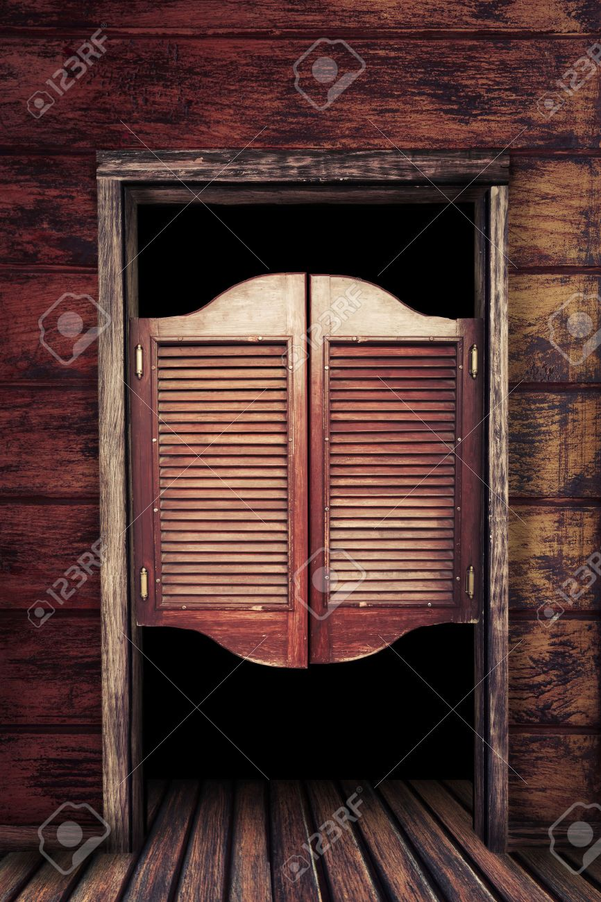 Old western swinging Saloon doors Stock Photo - 28047208 & Old Western Swinging Saloon Doors Stock Photo Picture And Royalty ...