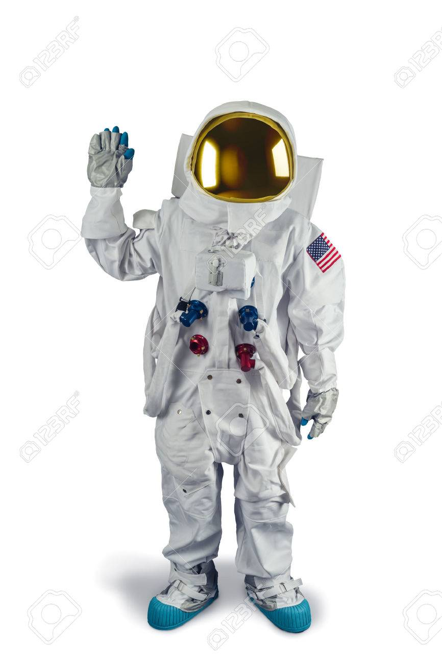 Astronaut isolated on white - 64144239