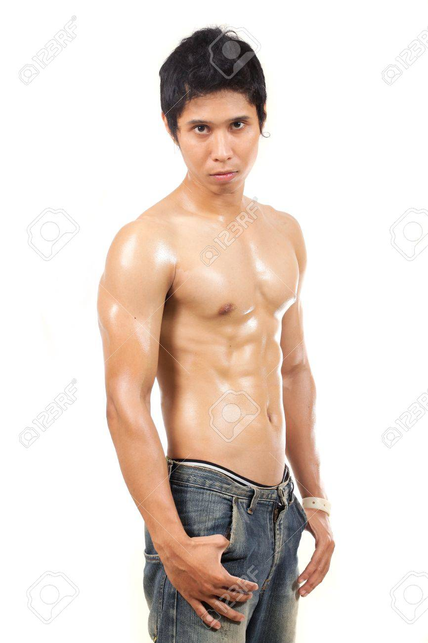 man looking at camera without wearing clothes Stock Photo - 9028366