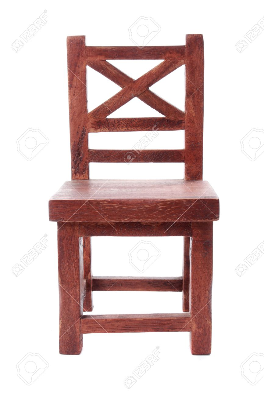 Merveilleux Front View Of Antique Wooden Chair Stock Photo   10313989