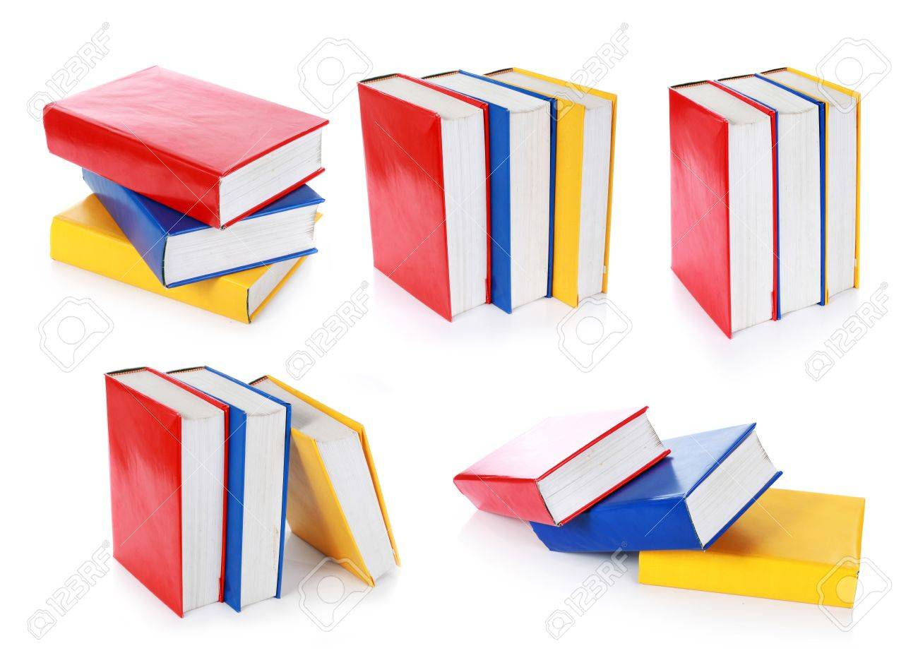 collection of colorful book formation. isolated on white background Stock Photo - 10313940