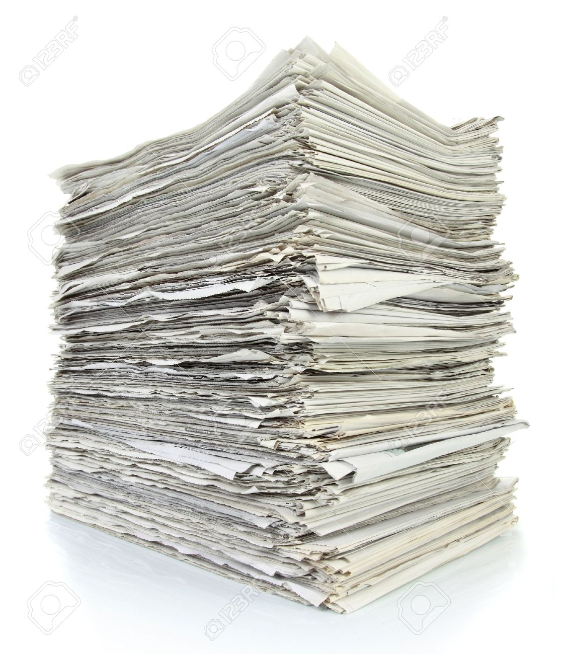 Stack of newspaper on white background Stock Photo - 11011811
