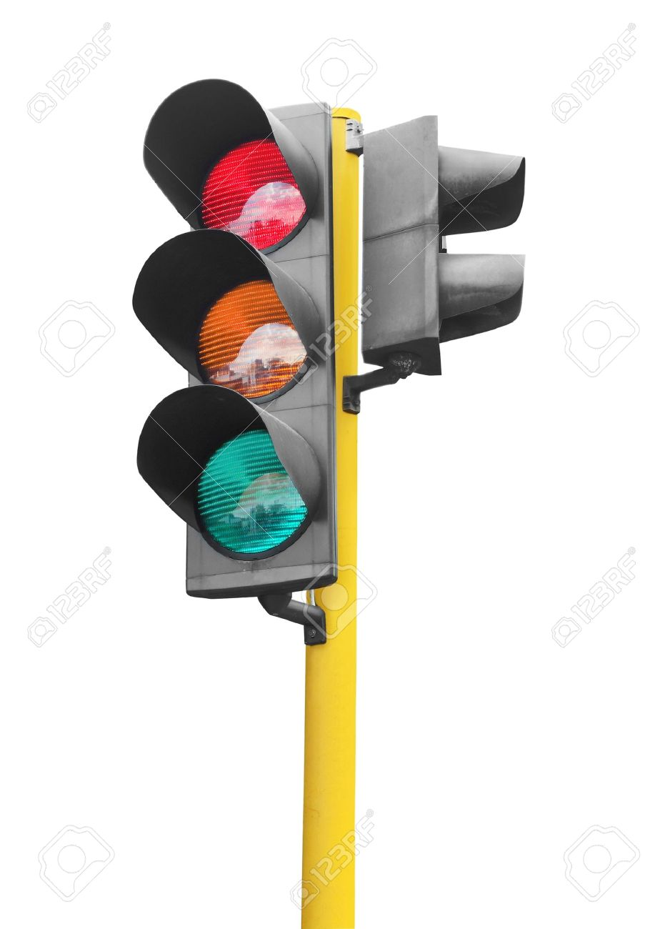 Real Traffic Light Isolated On White Background Stock Photo ... for Real Traffic Lights  165jwn