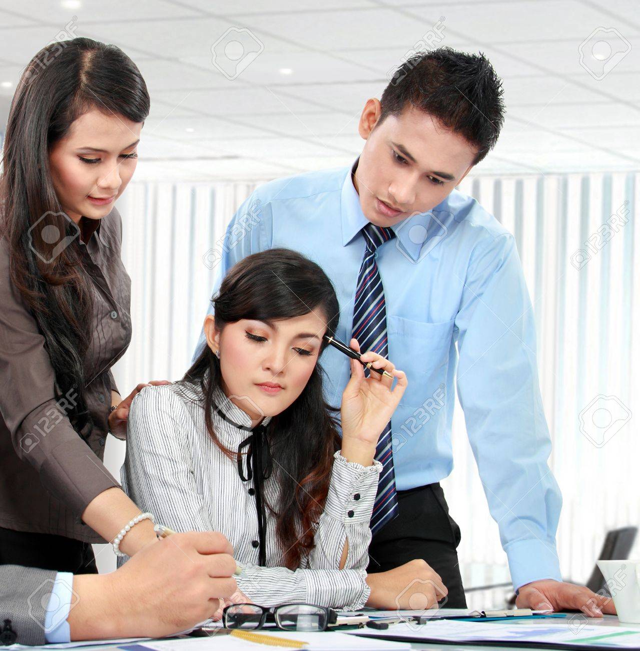 business team during serious meeting in the office Stock Photo - 17686892