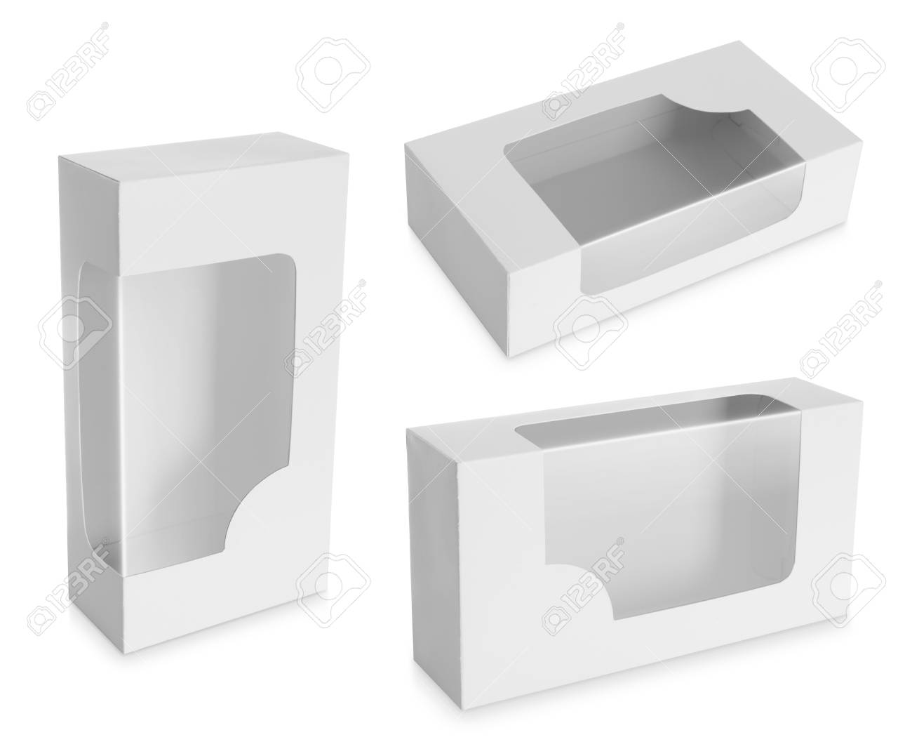 White Product Package Box With isolated over white background Stock Photo - 19282675