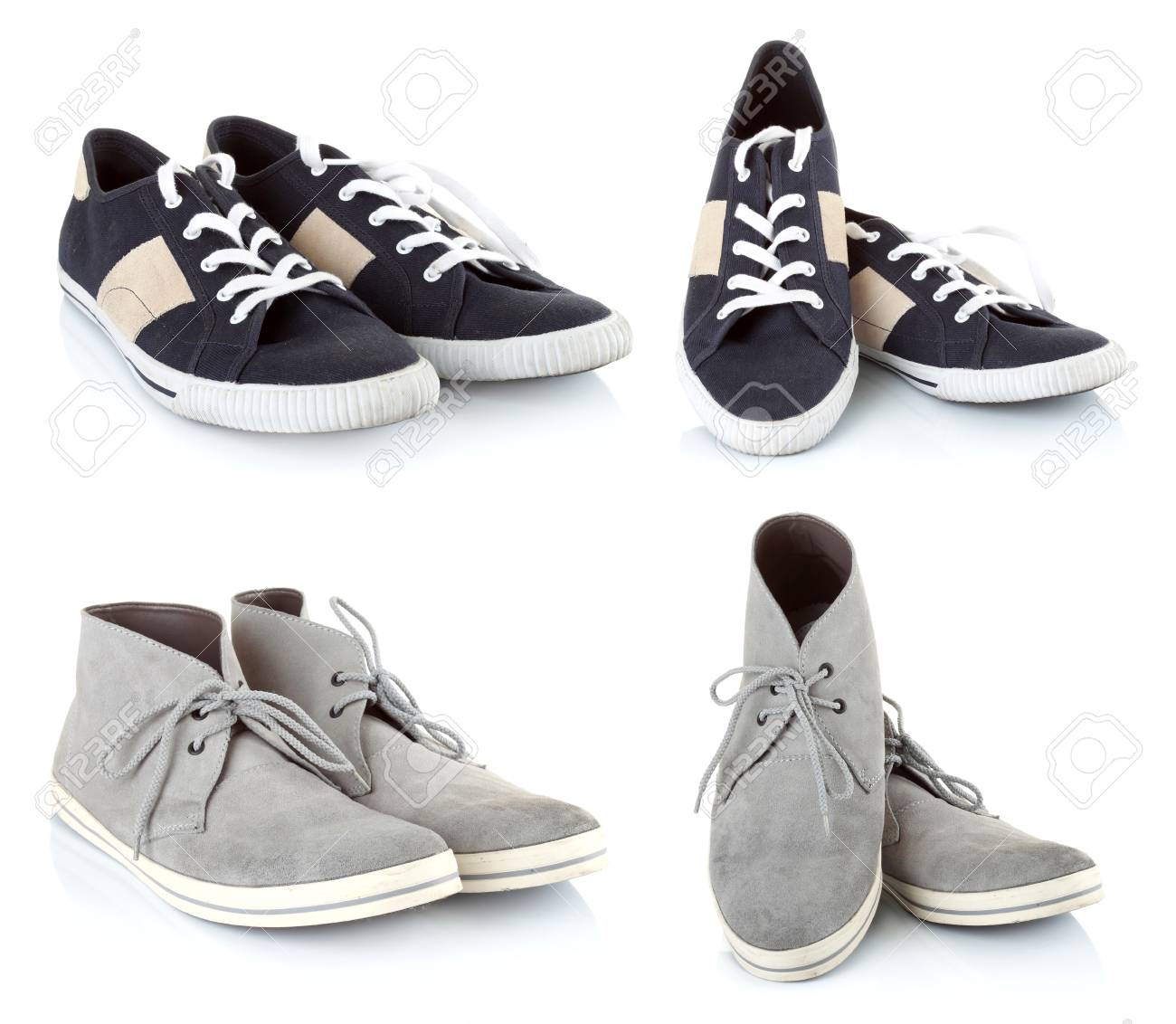 colletion of Classic sneakers shoes isolated on white background Stock Photo - 23411773