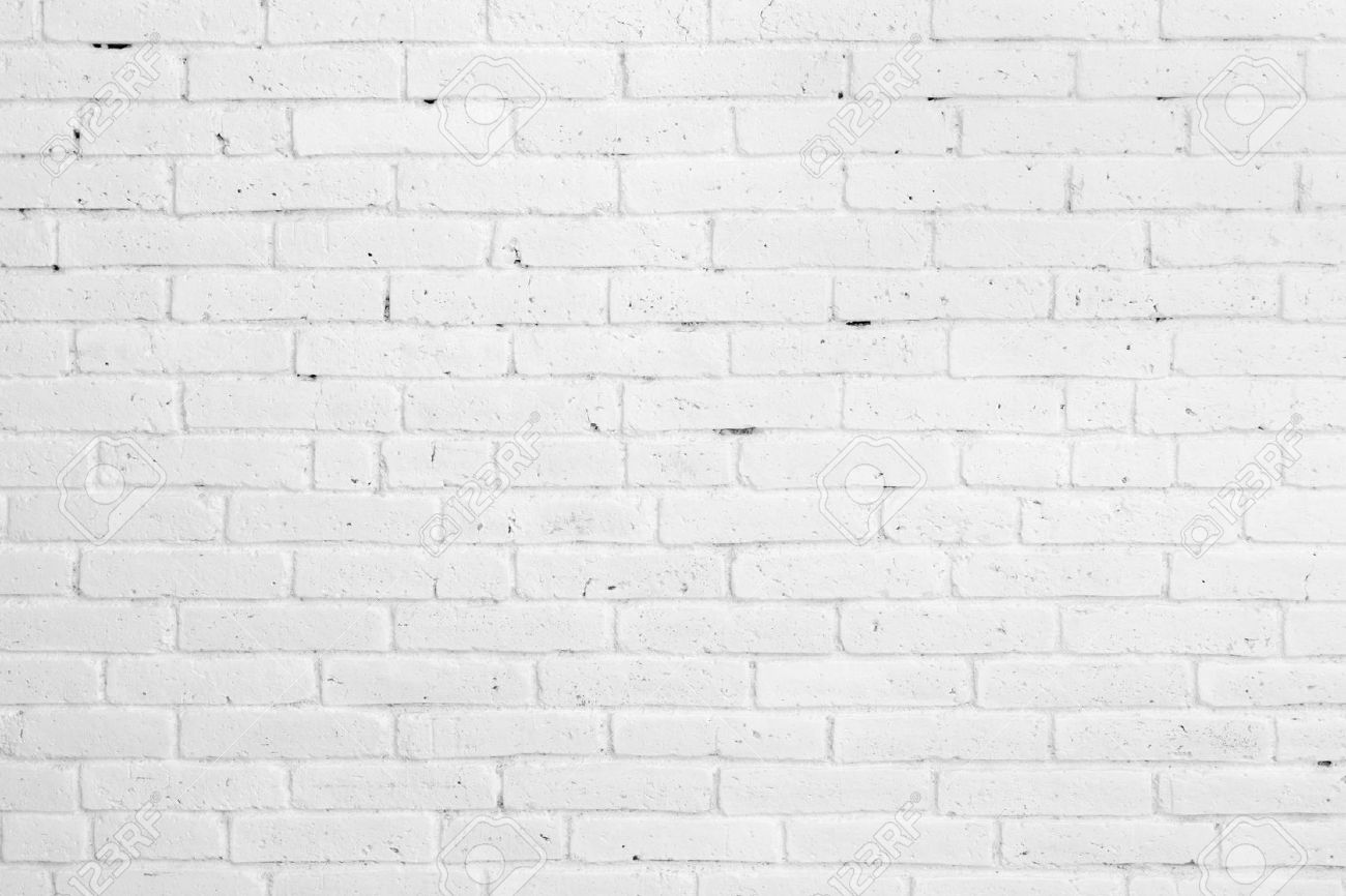 portrait of White brick wall for background or texture - 50862685