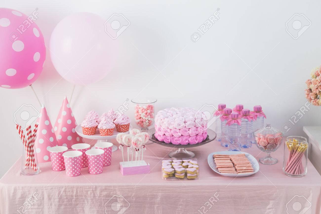 Enjoyable Portrait Of Birthday Party Supplies Sweet Corner With Cake Funny Birthday Cards Online Alyptdamsfinfo