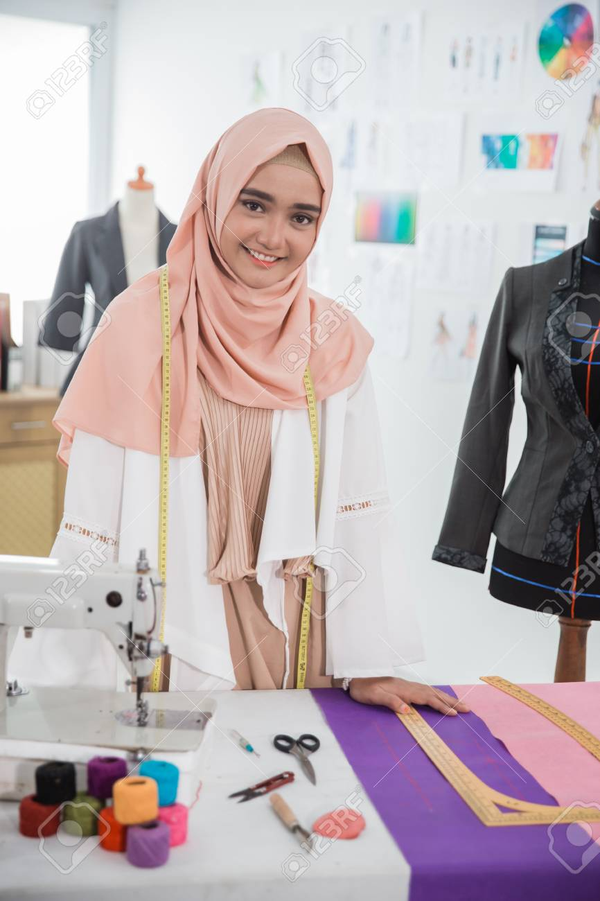 woman hijab tailor fashion designer