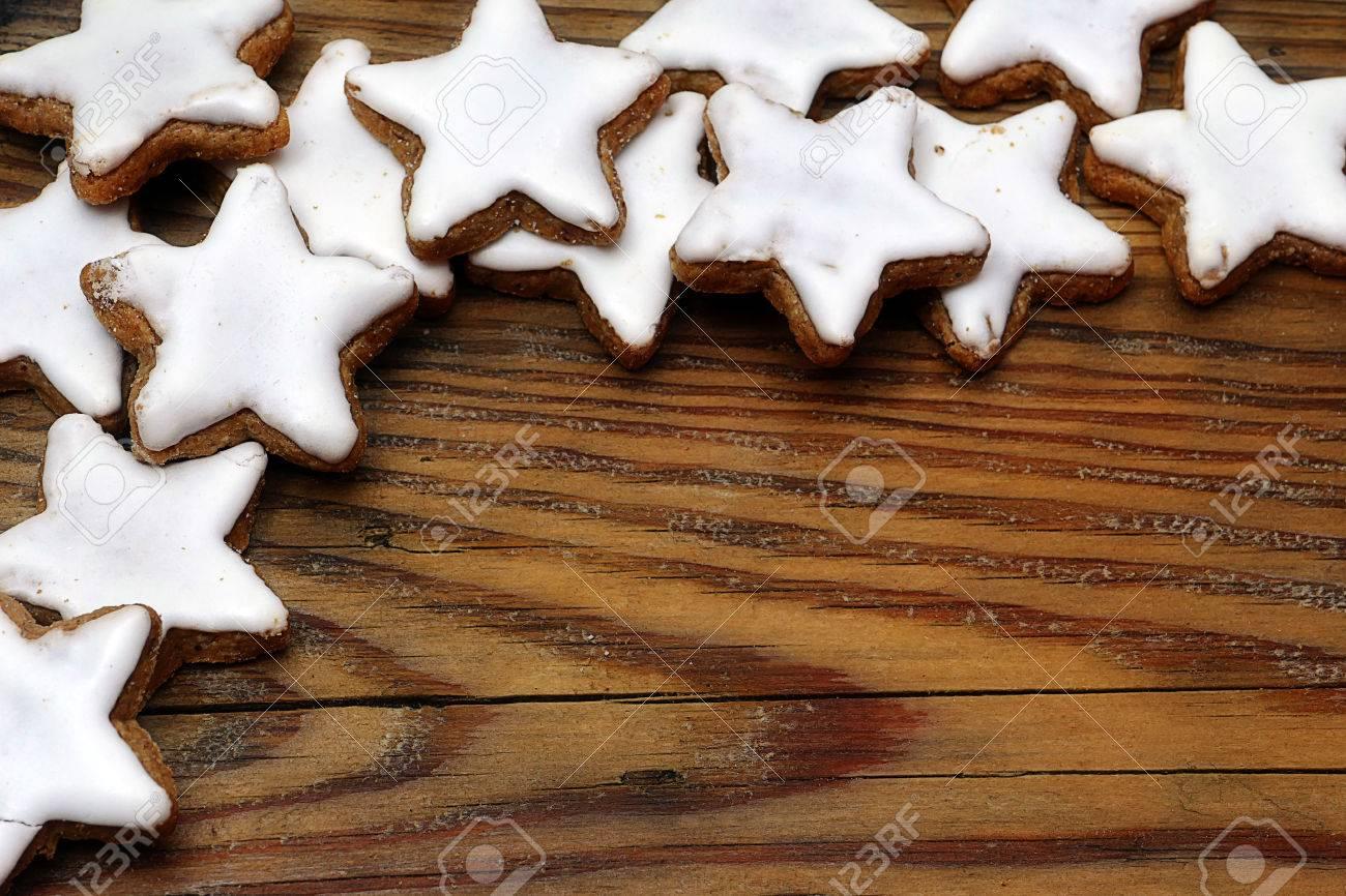 Christmas Cookies Stars With Cinnamon In German Zimtsterne