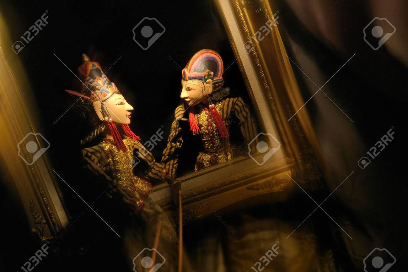 Wayang Golek, Diálogo En El Marco, Marionetas Tradicionales De Java ...