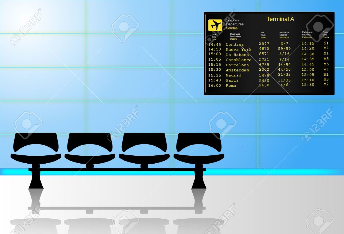 Airport waiting room Stock Vector - 11773469