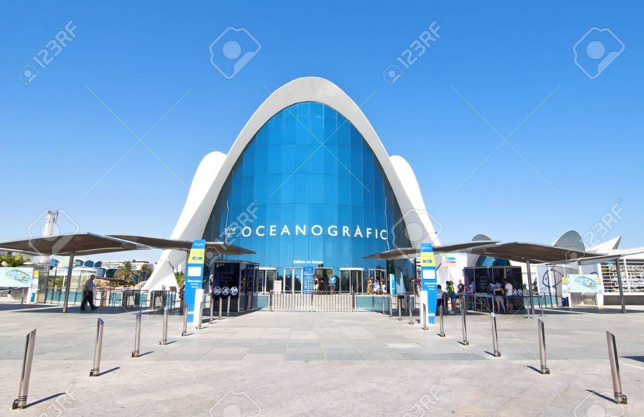 VALENCIA - SEPTEMBER 9: Oceanografic in the City of Arts and Sciences designed by Santiago Calatrava on September 9, 2011 in Valencia, Spain Stock Photo - 11868141