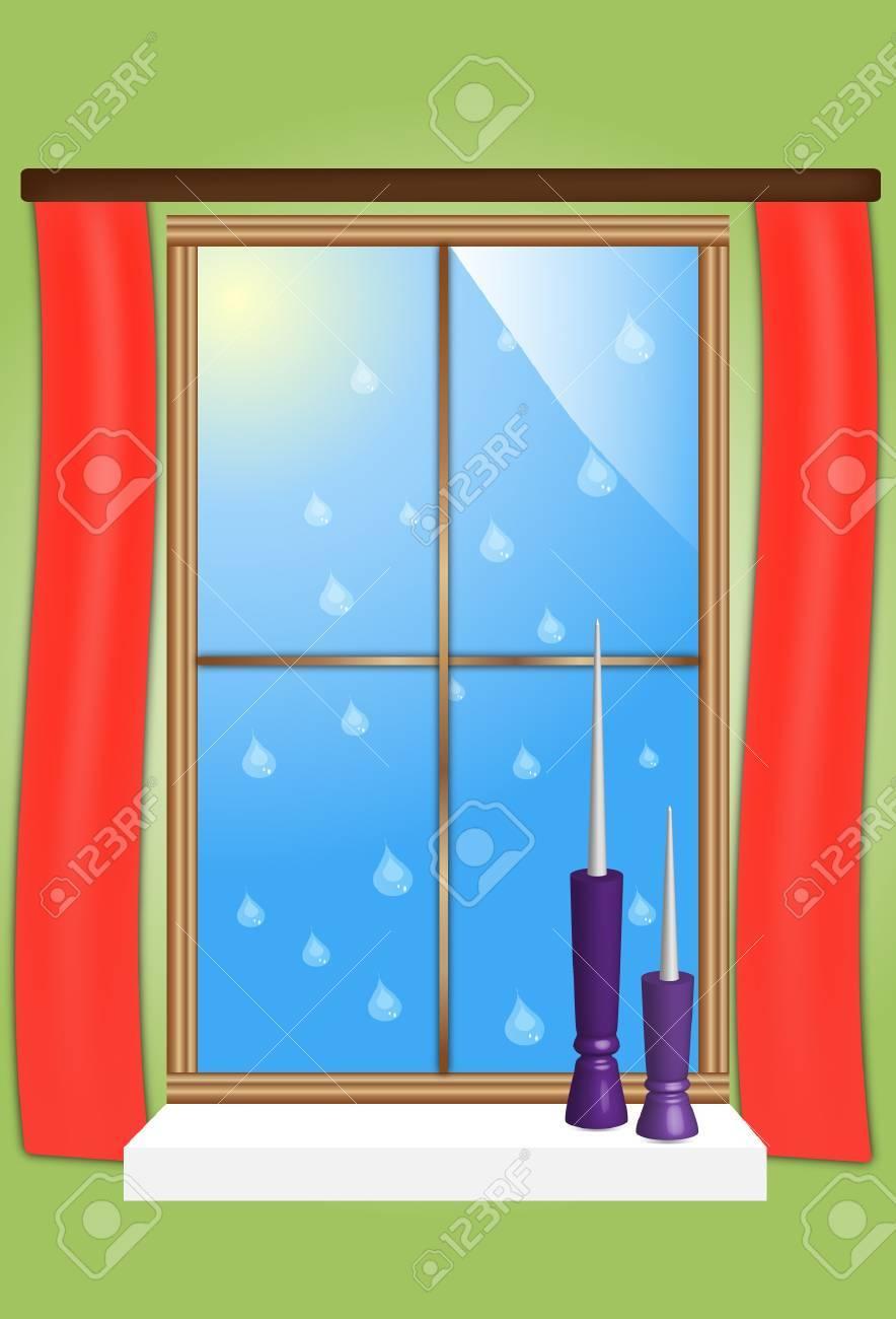 Dessin Dune Fenêtre Clip Art Libres De Droits Vecteurs Et