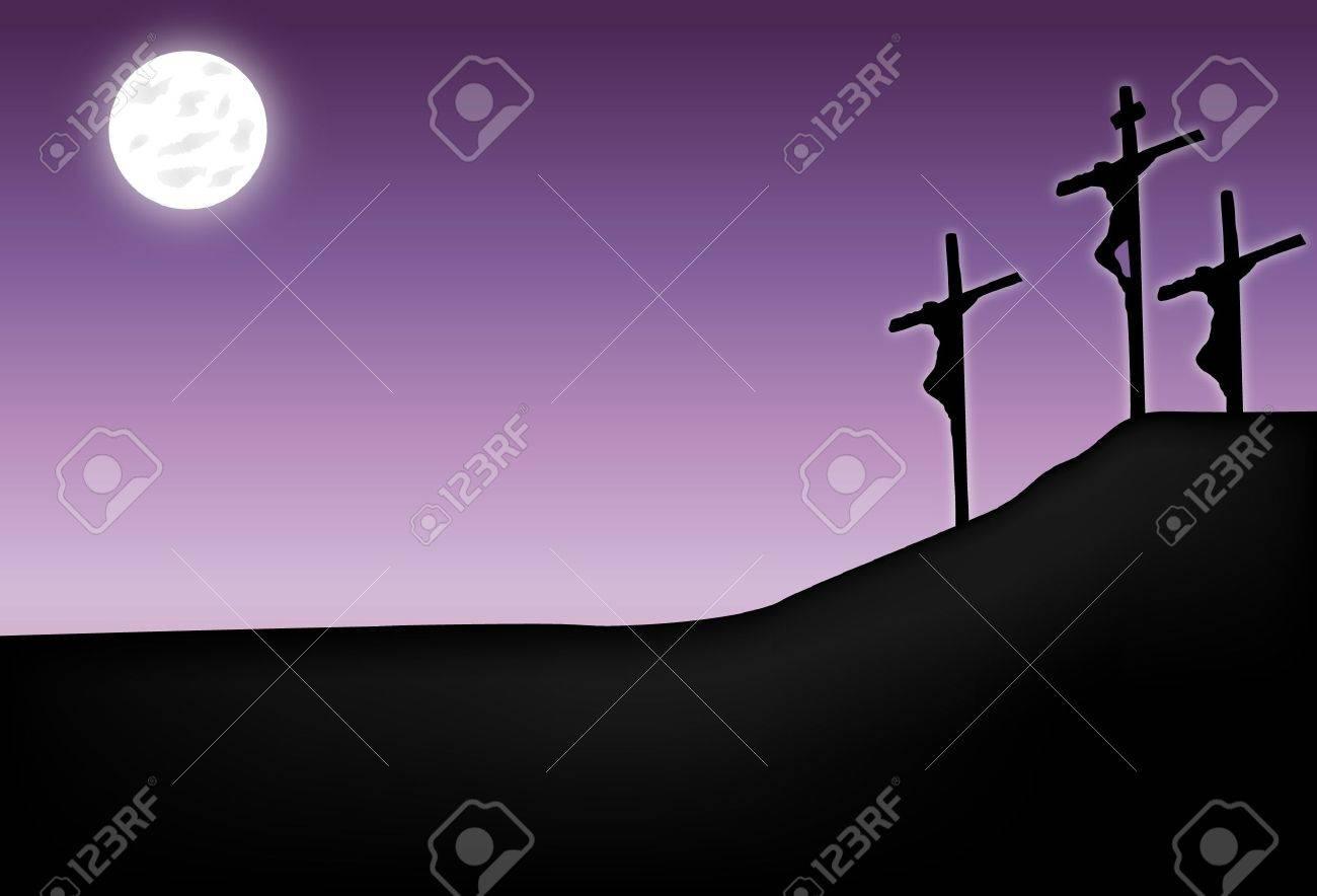 Crucifixion of Jesus Christ Stock Vector - 12041177