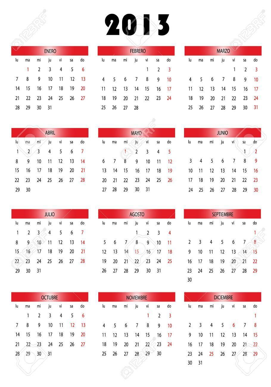 Calendar 2013 Stock Vector - 12640574