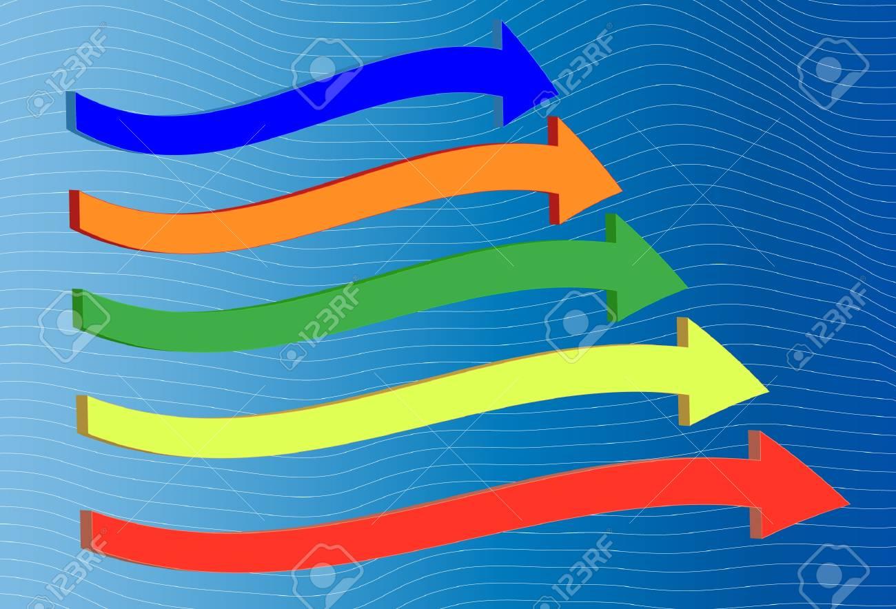 Colored arrows Race Stock Vector - 16721735