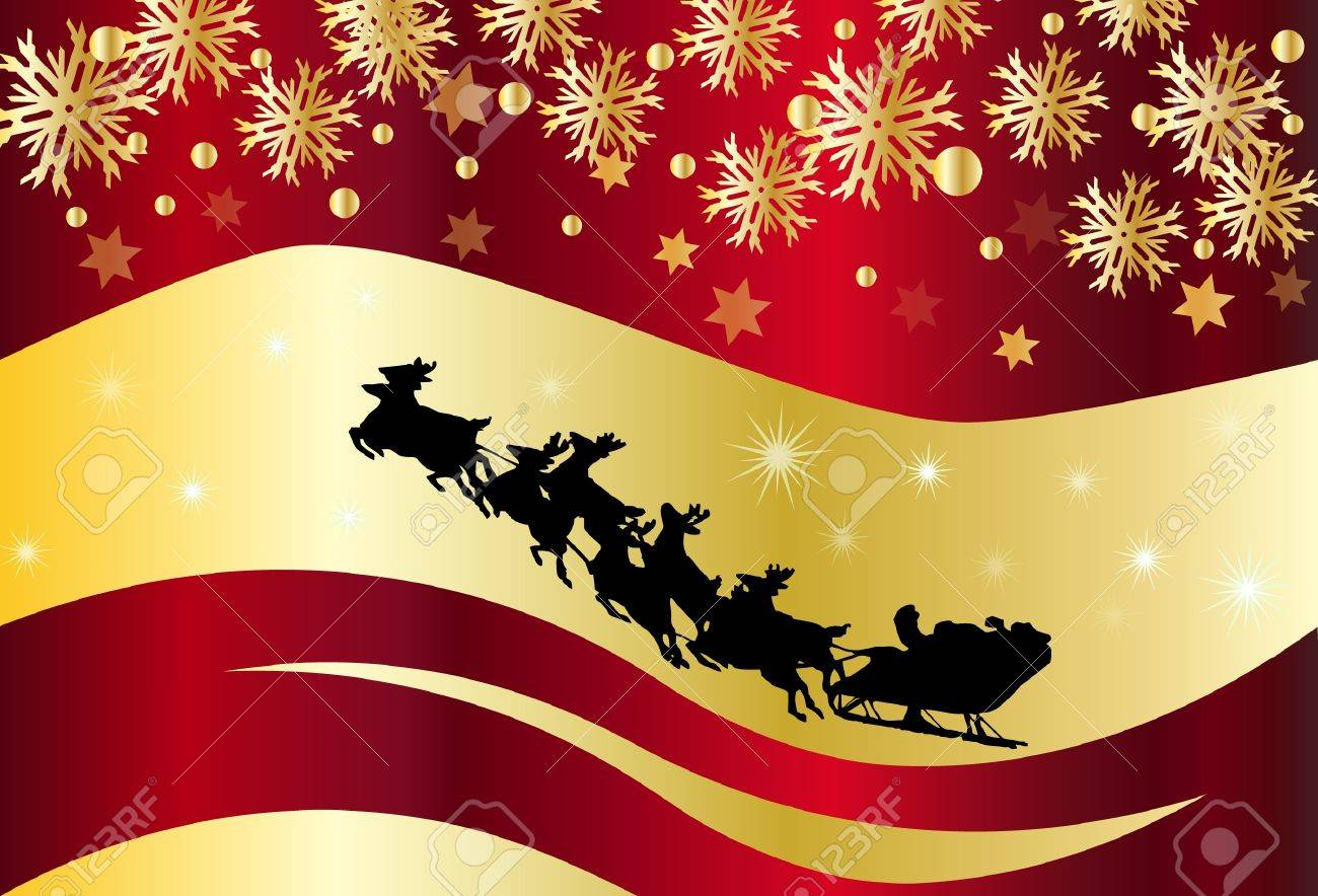 Christmas background with Santa Claus Stock Vector - 14127347