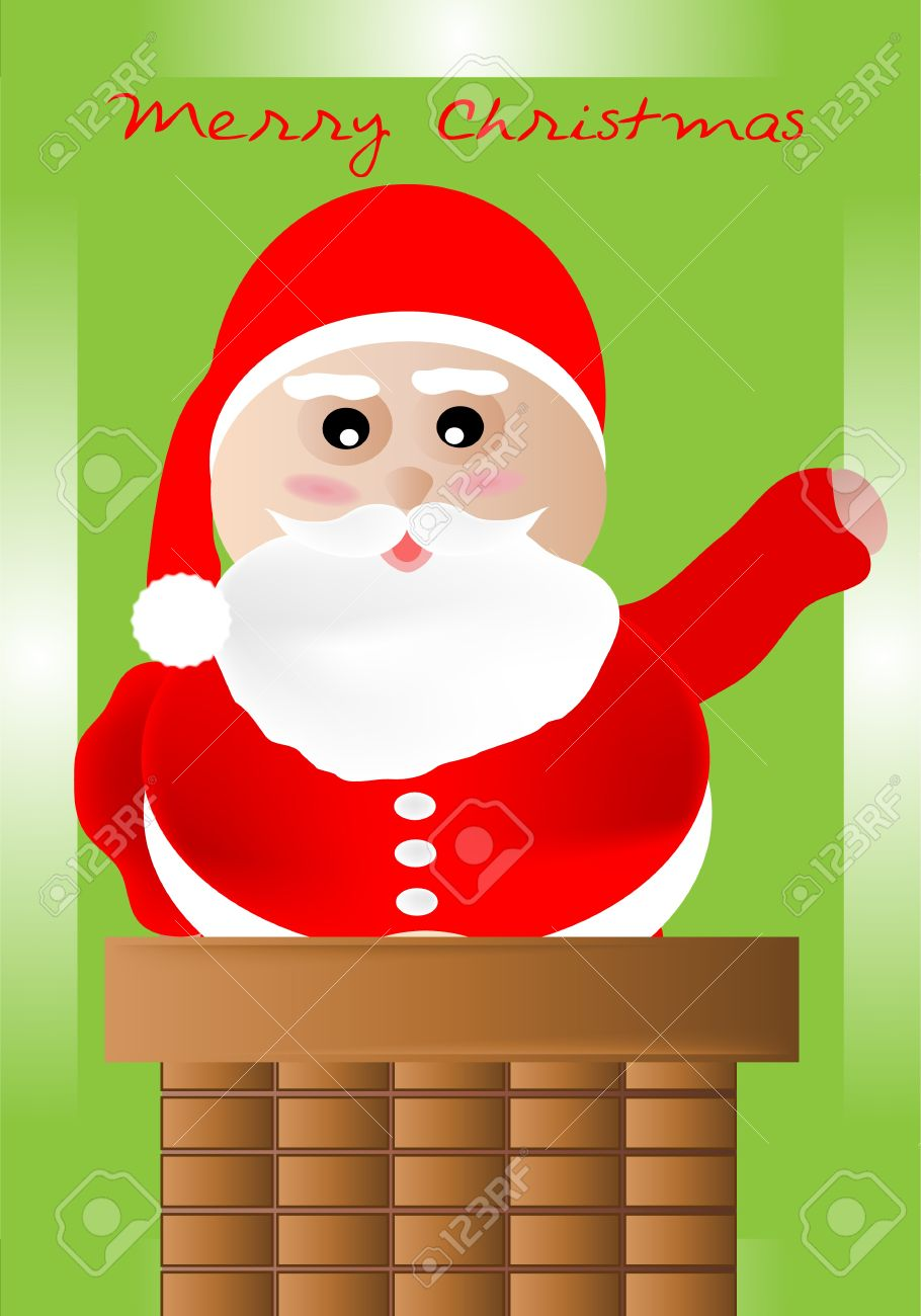 Come on Down Clipart Santa Claus in Coming Down The