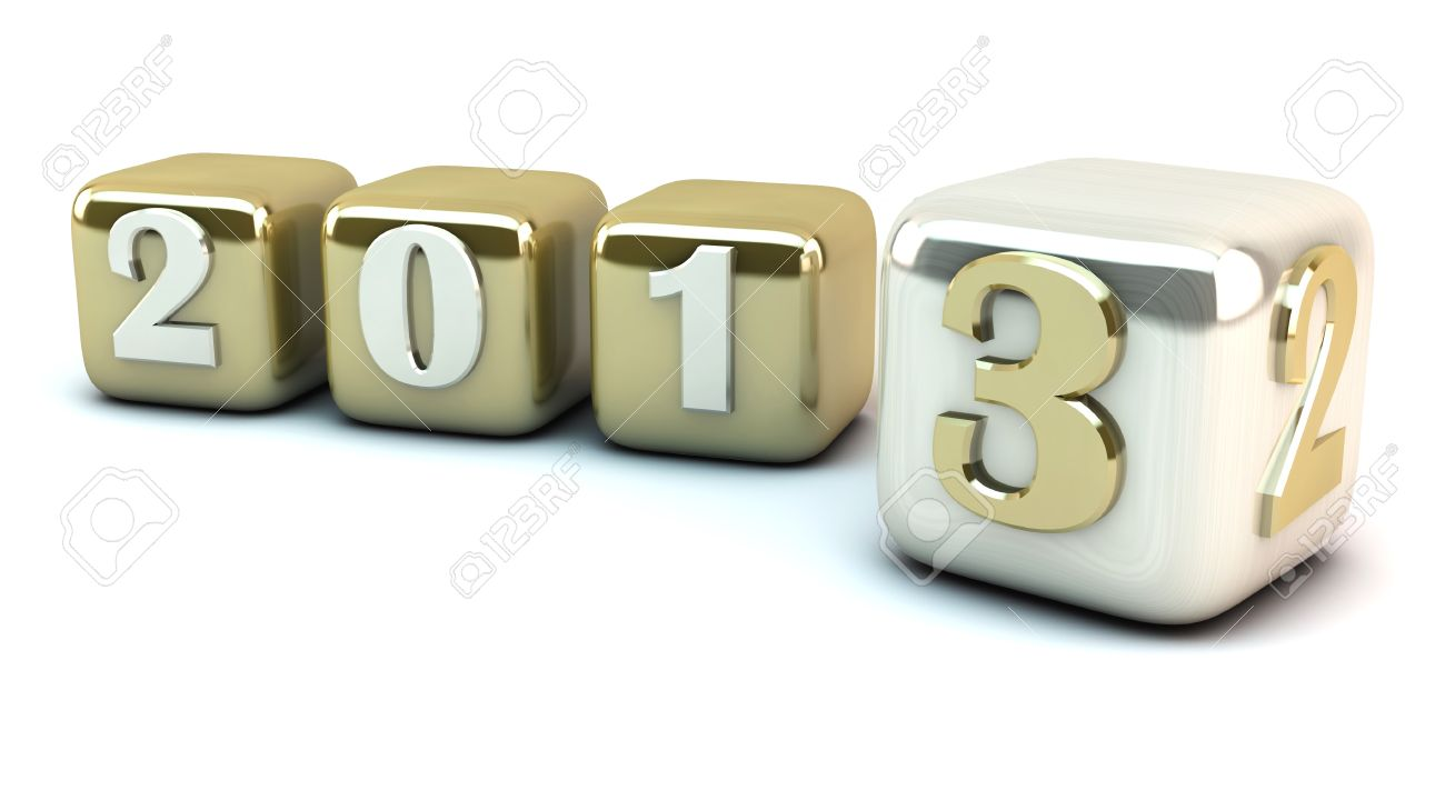 New year 2013 in cubes Stock Photo - 15589772