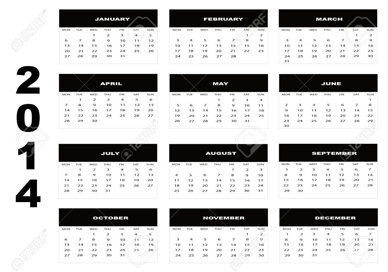 Calendar 2014 Stock Vector - 18936285