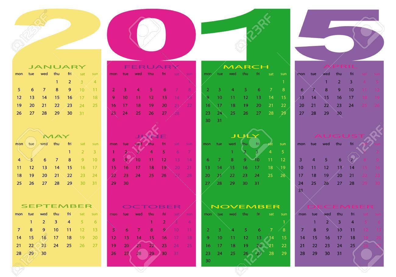 2105 calendar Stock Vector - 28871535