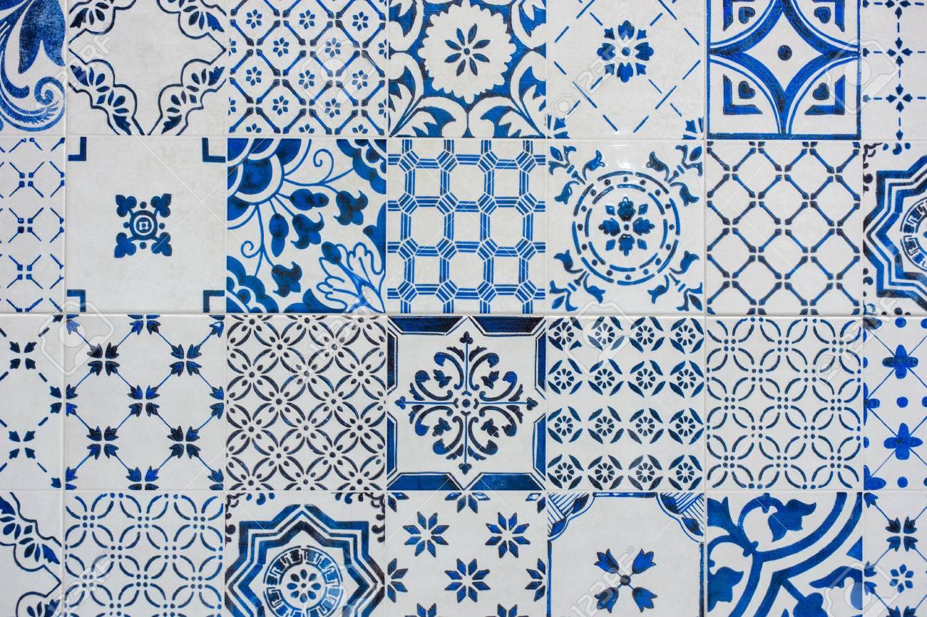 Carrelage Bleu Et Blanc Antique Appele Azulejos