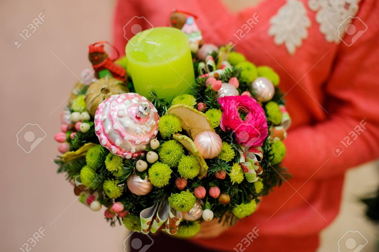 Amazing and extraordinary winter bouquet of colorful flowers stock amazing and extraordinary winter bouquet of colorful flowers in woman hands no face close izmirmasajfo