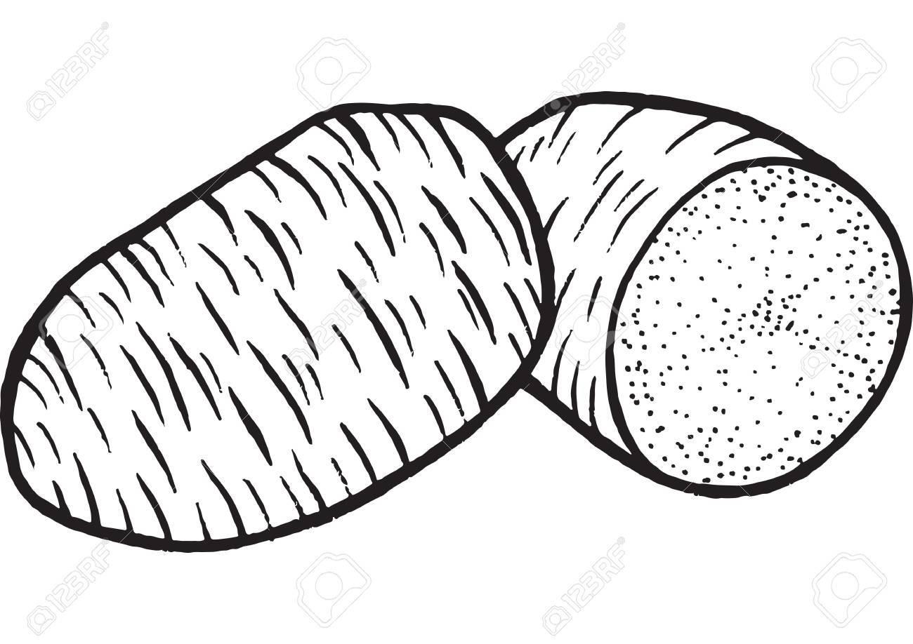 Pommes De Terre Coloriage Dessines A La Main Illustration Pour