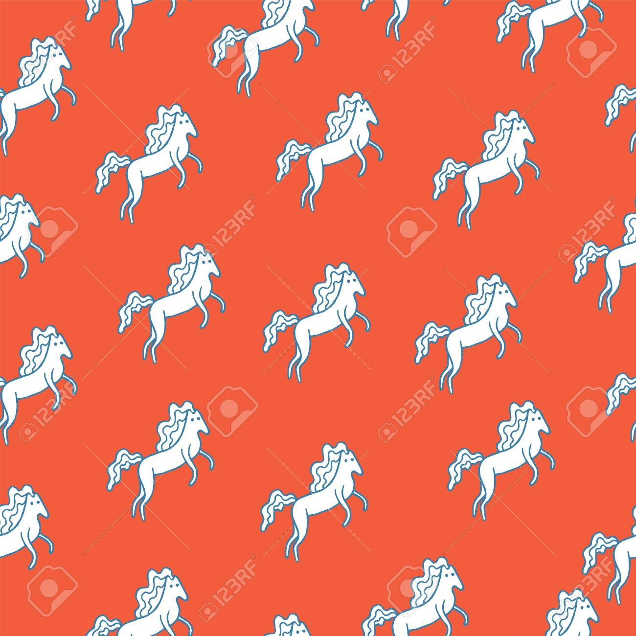 Medieval Seamless Pattern With White Horse Cartoon Doodle Wallpaper Royalty Free Cliparts Vectors And Stock Illustration Image 87218312